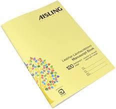 AISLING F8M A4 120 Page Printed Manuscript Book ... - Amazon.com
