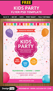 nursery school flyer design examples of some of the graphic design kids party flyer psd template