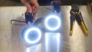 $13 ebay Halo <b>LED</b> fog Light install with Angel Eye <b>LED</b> Switches ...