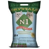 <b>Впитывающий наполнитель N1 Crystals</b> 30 л — <b>Наполнители</b> для ...