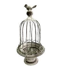 home decor plate x: wild blooms small bird cage decor gray