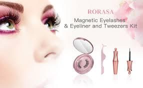 RORASA <b>Magnetic Eyelashes</b> with Magnetic Eyeliner Eye <b>Makeup</b> ...