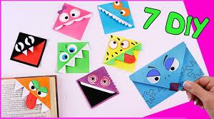 7 DIY <b>ЗАКЛАДКИ</b> из бумаги С <b>МОНСТРИКАМИ</b>! - YouTube
