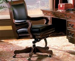 brown leather office chair wood brown leather office chairs