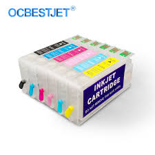 6Colors/Set <b>T5591</b> T5592 T5593 T5594 T5595 <b>T5596</b> Refillable Ink ...