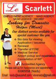 singapore employment agency maid agency