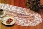 Салфетка на стол крючком