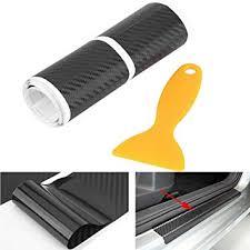 4Pcs <b>Carbon</b> Fiber Anti Scratch <b>Car Door Sill</b> Sticker Scuff Plate ...