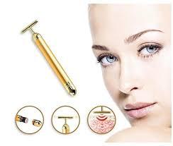Angel Kiss <b>Beauty Bar 24k Golden</b> Pulse Facial Massager T Shape ...