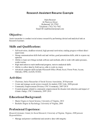 example resume research resume template with skills and qualification also professional experience research resume