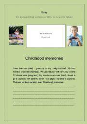 english teaching worksheets childhood english worksheets essay   childhood memories