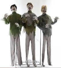 Zombie Horde Animated <b>Halloween Prop</b> Lifesize Haunted House ...