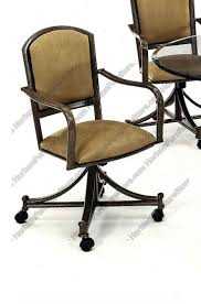 casual dining chairs with casters: tempo industries dunhill swivel amp tilt dining arm chair with casters