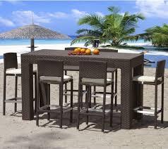 wicker bar height dining table: outdoor teak bar height dining table outdoor pub and bistro tables