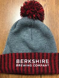 <b>Winter Pom Beanie</b> - Grey and Red — Berkshire Brewing Company