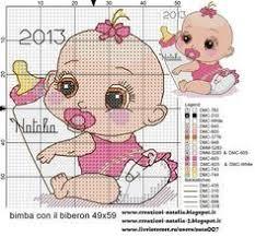 Lovely <b>baby girl</b> #crossstitch | Kanaviçe, Çapraz dikiş modelleri ...