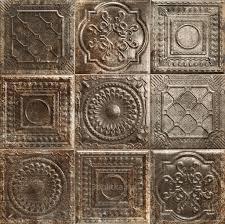 <b>Tin</b>-<b>Tile</b> Rusty Nero (16 видов рисунка) 20x20 настенная <b>плитка</b> от ...