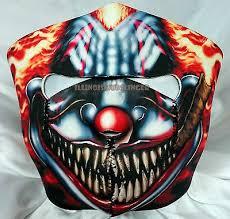 Smoking Scary <b>Clown Motorcycle Biker</b> Ski Snowmobile Neoprene ...