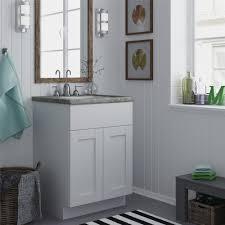 bathroom features gray shaker vanity: ameriwood furniture quot white shaker style bath vanity cabinet ameriwood