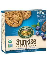 <b>Sunrise</b>® Blueberry & Chia <b>Breakfast</b> Biscuits - Nature's Path