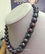 "charming 18""10-11mm <b>natural</b> tahitian <b>genuine black pearl</b> necklace"