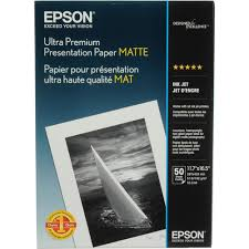 "<b>Epson</b> Ultra Premium Presentation <b>Paper Matte</b> (<b>A3</b> 11.7 x 16.5"", 50 ..."