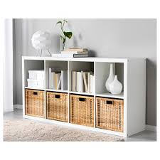 white storage unit wicker: white furniture for living room  cubes open shelves  additional brown wicker storage gray wall paint extra smooth fur rug stylish storage unit