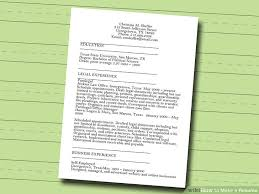 image titled make a resume step 2 how to make a perfect resume step by step