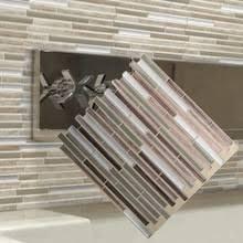<b>Mosaic</b> Stick On <b>Self Adhesive Wall Tile Stickers</b> Anti Oil For ...