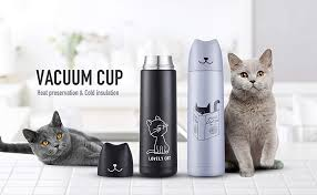 Cute Cat Thermoses Water Bottle - ONEISALL Cat ... - Amazon.com