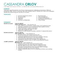 best legal receptionist resume example livecareer create my resume