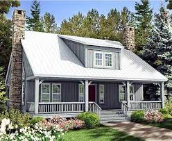 Porches  Rustic house plans and Rustic houses on PinterestArchitectural Designs Rustic House Plan SV Two      deep porches provide shade and a wonderful