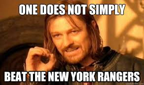 One Does Not Simply beat the New York Rangers - Boromir - quickmeme via Relatably.com
