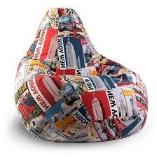 Купить <b>DreamBag Кресло</b>-<b>мешок New York</b> XL разноцветный ...