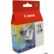 Комплект <b>картриджей Canon BCI-15</b> Color (трехцветный двойной ...