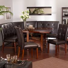 black kitchen dining sets: kitchen  black kitchen bench seat dining room interior marvellous small breakfast nook room inspiration with leather dining set design