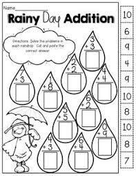 Addition and subtraction, Math and Cut and paste on PinterestRainy Day Addition (cut and paste!)