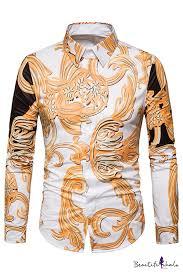 Mstyle <b>Men Leaf</b> Warm Floral Printed Fashion Slim Long Sleeve All ...