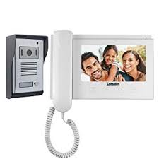 Lansidun Video Intercom <b>7 inch LCD Wired</b> Doorbell Door Phone ...