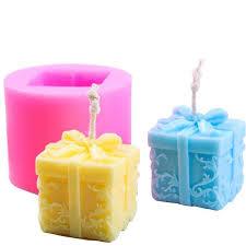 Christmas Gift Box Candle Mould <b>Aroma</b> Candle <b>Gypsum</b> Mold For ...