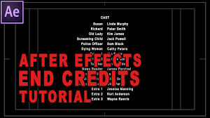 after effects tutorial how to create professional rolling end after effects tutorial how to create professional rolling end credits for your film