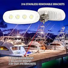 Free <b>12W Marine</b> Led Work Light <b>Boat</b> Headlight Flood <b>12V</b> 24V ...