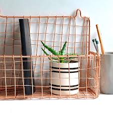 size bathroom wicker storage:  fascinating wall mounted storage basket gold or copper by henry future baskets uk originalwall copper large