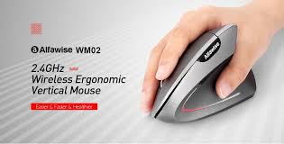 $6 with coupon for <b>Alfawise WM02 Vertical Wireless</b> 2.4GHz Mouse ...