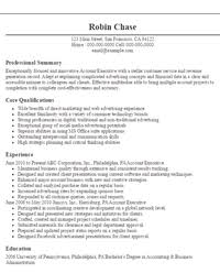 professional resume objectives samples   livecareeraccount executive resume objectives resume sample