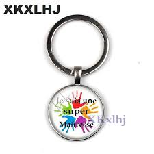 <b>XKXLHJ</b> Hot Merci Maitresse Glass Cabochon Men's Car <b>Keychain</b> ...