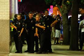 eight hours of terror dallas police officers respond after shots were fired at a black lives matter rally in downtown