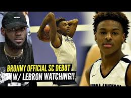 Bronny James OFFICIAL Sierra Canyon Debut w/ LEBRON ...