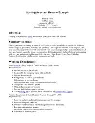 Nursing Assistant Job Description For Resume Resume For Your Job