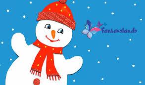 Decorazione Finestre Neve : Un simpatico omino di neve fantavolando